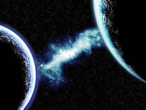 Presentación digital de la Tierra y el planeta Nibiru