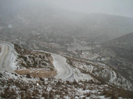 Real de Catorce nieve 8 550x412 Cae Nieve en Real de Catorce
