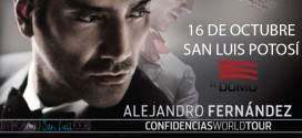 """Alejandro Fernández y su """"Confidencias World Tour"""" en San Luis Potosí"""