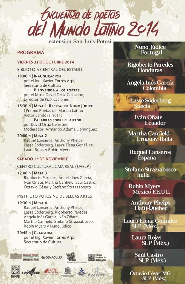 programa encuentro de poetas