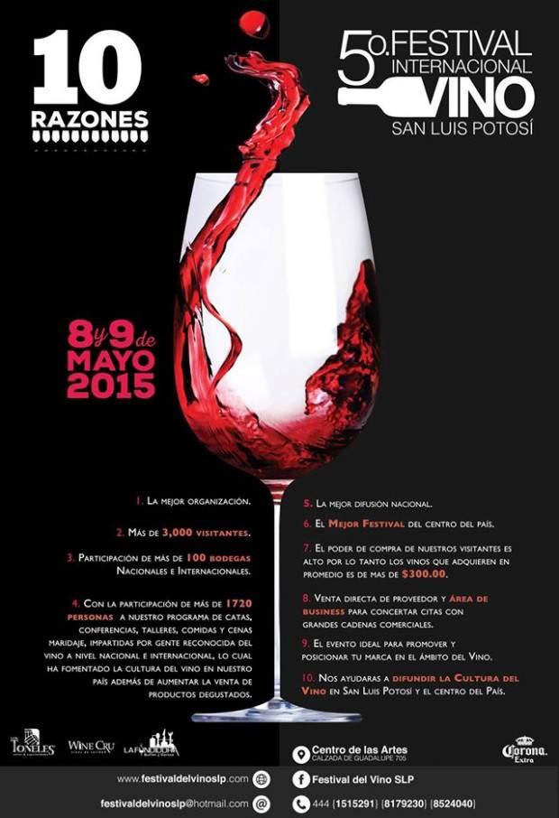 5° Festival Internacional del Vino San Luis Potosí @ Centro de las Artes de San Luis Potosí