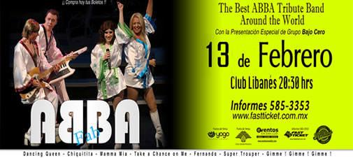 Abba Fab @ Club Libanés | San Luis Potosí | San Luis Potosí | México
