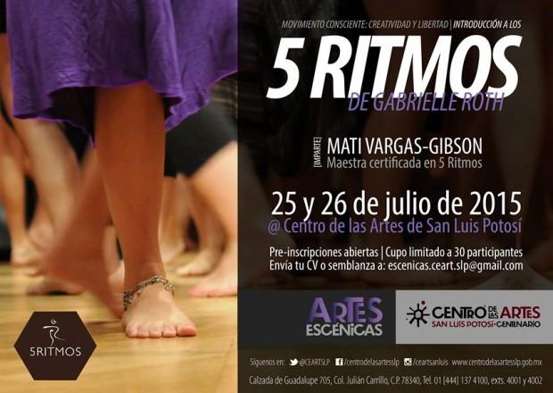 5 ritmos de Gabrielle Roth @ Centro de las Artes de San Luis Potosí