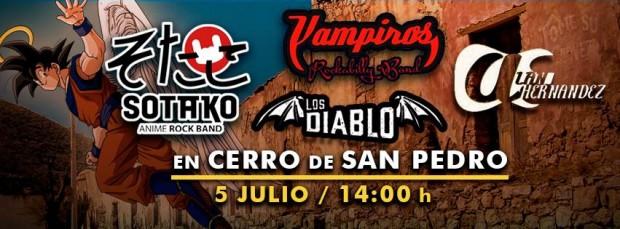Sotako Anime, Los Vampiros, Los Diablo y Alan Hdz en Cerro de San Pedro @ Cerro de San Pedro | Cerro de San Pedro | San Luis Potosí | México