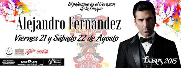 Alejandro Fernandez en la FENAPO 2015