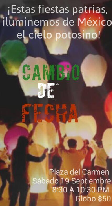 Globos de Cantoya Cambio Fecha