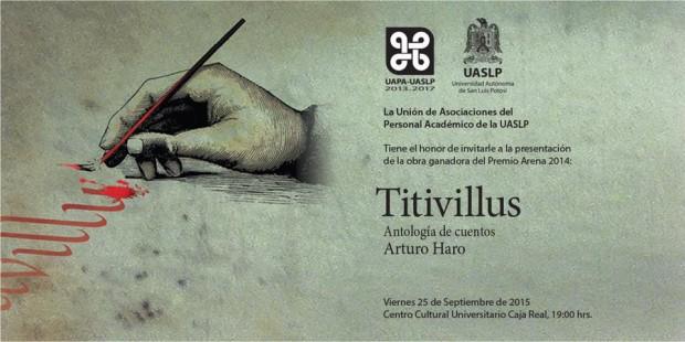Presentación de «Titivillus» libro de Arturo Haro