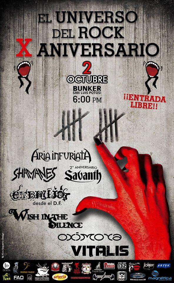 X Aniversario del Universo del Rock @ Steel Metal Bunker