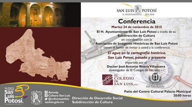 El agua en la cartografía histórica de San Luis Potosí, pasado y presente