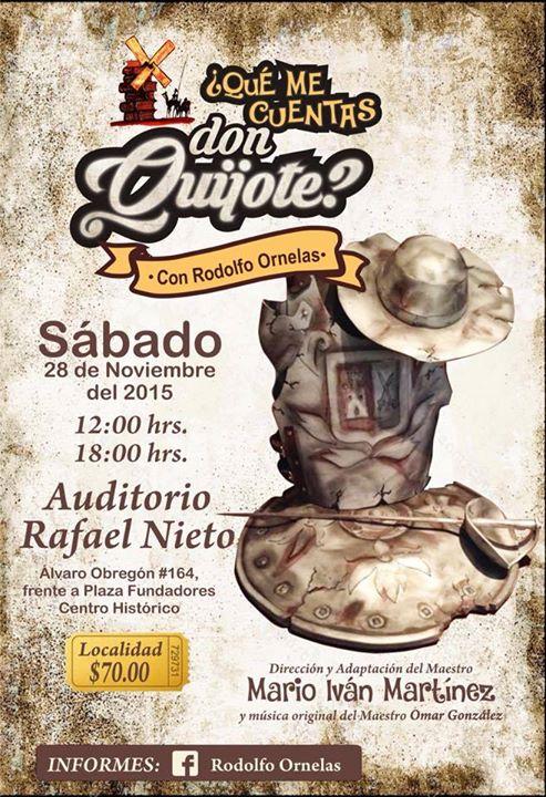 ¿Qué me cuentas Don Quijote? @ Auditorio Rafael Nieto